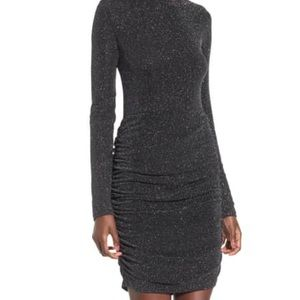 Leith ruched bodycon midi dress - small